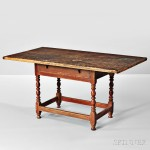 Maple and Pine Table, New England, 18th century (Lot 211, Estimate $3,000-5,000)