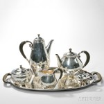 Johan Rohde for Georg Jensen Silver Coffee and Tea Service, Denmark, 1933-44 (Lot 221, Estimate $10,000-$15,000)