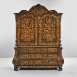Dutch Marquetry and Fruitwood Armoire, 18th century (Lot 705, Estimate $1,500-$2,500)