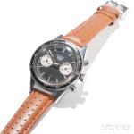 Heuer Autavia 'Andretti' Ref. 3646 Chronograph Wristwatch, late 1960s (Estimate $3,000-5,000)