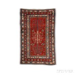 Kazak Carpet, Caucasus, c. 1870 (Lot 118, Estimate: $3,000-3,500)