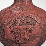 Cinnabar Vase, China, 18th/19th century (Lot 387, Estimate $3,000-$5,000)