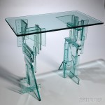 Fay Miller Art Glass Skyscraper Table, United States, late 20th/early 21st century  (Estimate $600-800)