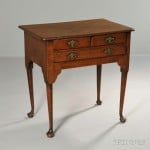 Queen Anne Oak Dressing Table, England, mid-18th century (Lot 1325, Estimate: $600-800)