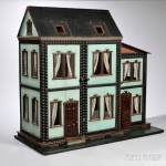 Six Room 'Mystery' Dollhouse, America, c. 1880 (Lot 19, Estimate: $3,000-5,000)