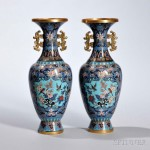 Pair of Cloisonne Vases, China (Lot 415, Estimate: $200-400)