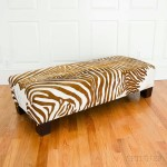 Hide-upholstered Zebra-print Bench (Lot 1216, Estimate: $300-400)