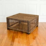 Rattan-clad Cube Table (Lot 1218, Estimate: $100-200)
