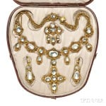 Gold and Rock Crystal Demi-Parure, c. 1820s (Lot 160, Estimate: $4,000-6,000)