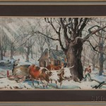 Carl Gilbert (American, 1882-1959) Maple Sugarring, Signed 'C. Ivar Gilbert'(Estimate: $600-800)