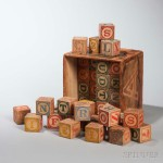 Boxed Set of Forty-eight Children's 'Alphabet' Blocks, early to mid-  20th century (Lot 1968, Estimate: $200-400)