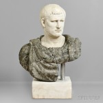 Classical-style Marble Bust of a Roman Emperor (Lot 620, Estimate: $3,000-5,000)