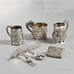 Four Pieces of Chinese Export Silver, late 19th/early 20th century (Lot 71, Estimate: $600-800)