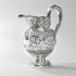 Samuel Kirk .917 Silver Pitcher, Baltimore, c. 1824 (Lot 80, Estimate: $2,000-3,000)