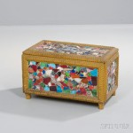 Memoryware Trunk,Ceramic, glass, found objects, wood, paint, United   States, 20th century (Lot 1019, Estimate: $600-800)