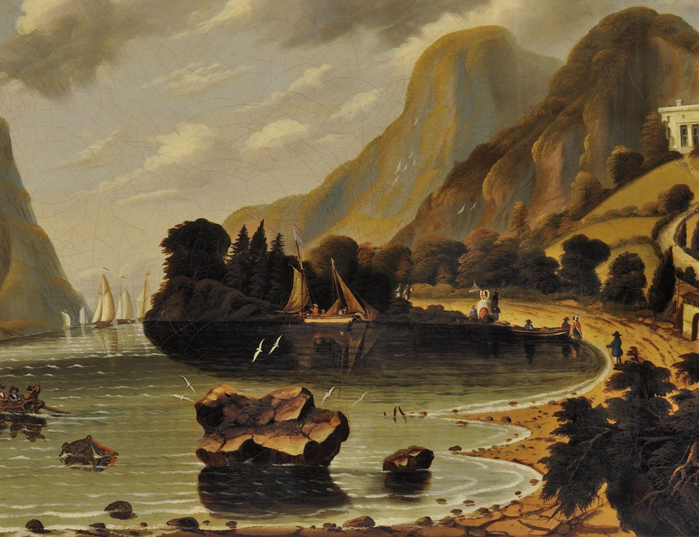 [Detail] Thomas Chambers (New York/England, 1808-1869) Undercliff, near Coldspring (The Seat of General George   P. Morris) Unsigned (Lot 56, Estimate: $20,000-30,000)