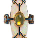 Art Nouveau Opal and Peridot Ring, Georges Fouquet (Estimate $10,000-15,000)