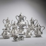 Nine-piece Coin Silver Tea and Coffee Service, Philadelphia, c. 1850 (Lot 230, Estimate: $5,000-7,000)