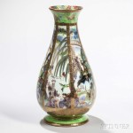 Wedgwood Fairyland Lustre Pillar Vase, England, c. 1925 (Lot 90, Estimate: $2,000-3,000)