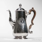 Early Georgian Irish Silver Coffeepot, Dublin, c. 1730 (Lot 129, Estimate: $3,000-5,000)