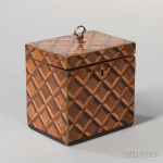 Marquetry Tea Caddy (Lot 1308, Estimate: $200-300)