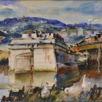 James Sessions (American, 1882-1962)  Barges (Lot 1005)