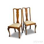 Pair of Queen Anne-style Mahogany Chairs (Lot 1021)