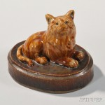 Ohio Pottery Cat (Lot 1027)