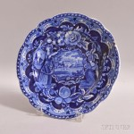 Staffordshire Historic Blue Transfer-decorated States Plate (Lot 1049)