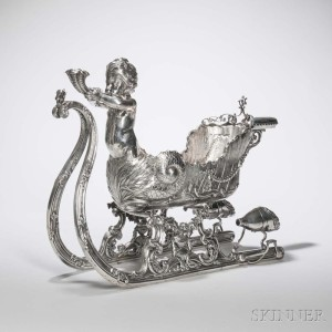 2975b_lot_206_silver_sleigh_centerpiece