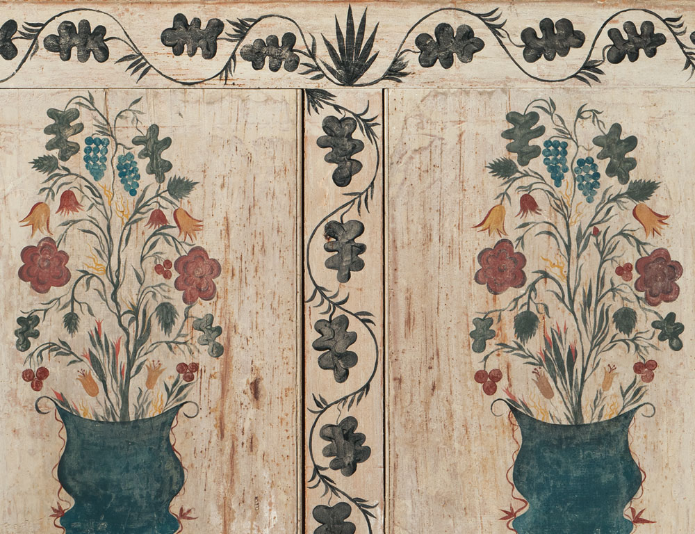 Painted Pine Fireboard, New England, early 19th century (Lot 357, Estimate $30,000-50,000)