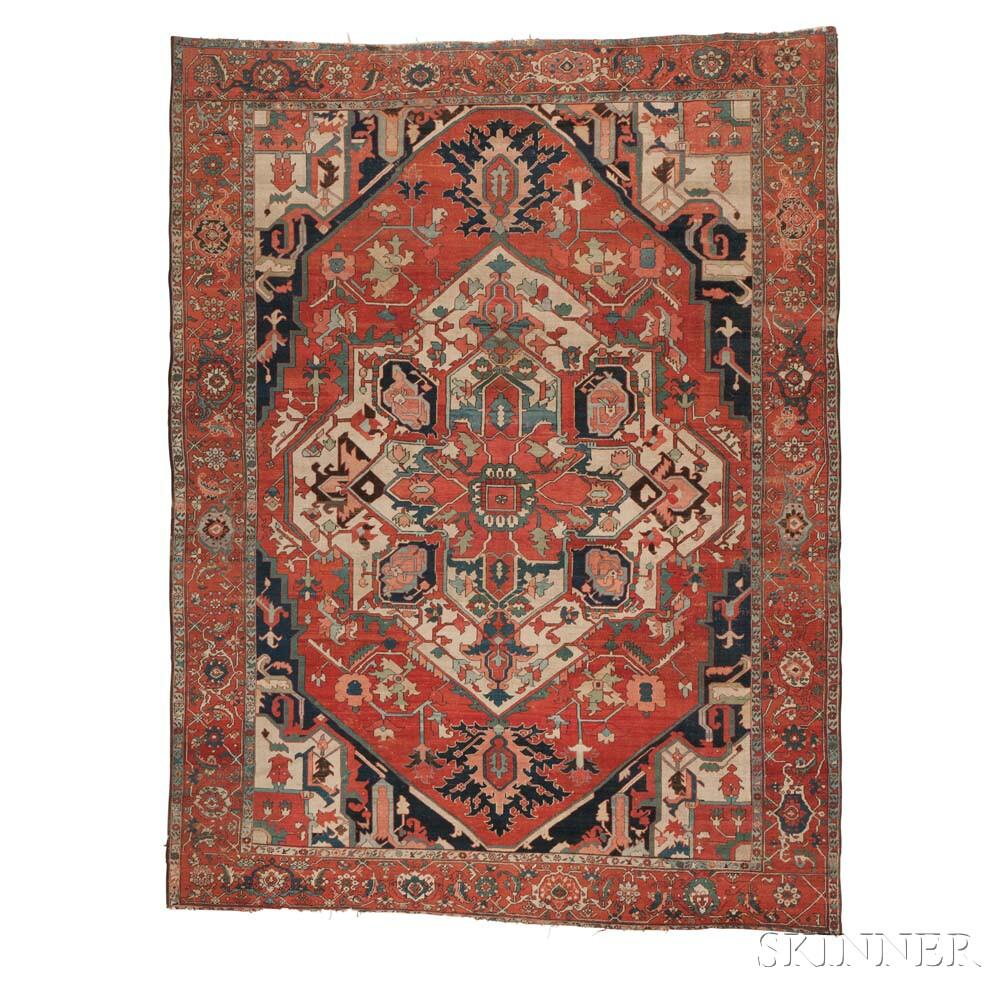 serapi carpet iran c lot 14 estimate