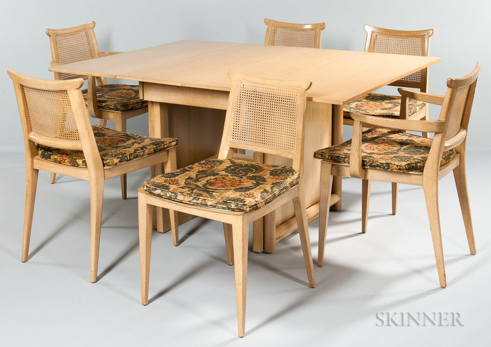 Edward Wormley Extension Dining Table And Six Chairs For Dunbar (Lot 1699,  Estimate $600 800) ...