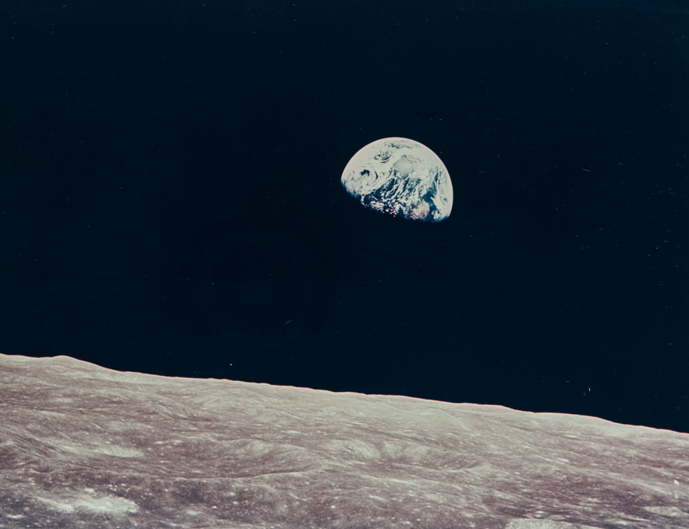 [DETAIL] William Anders (American, b. 1933)  First Earthrise seen by human eyes, Apollo 8, December 1968 (Lot 126, Estimate $1,200-1,800)