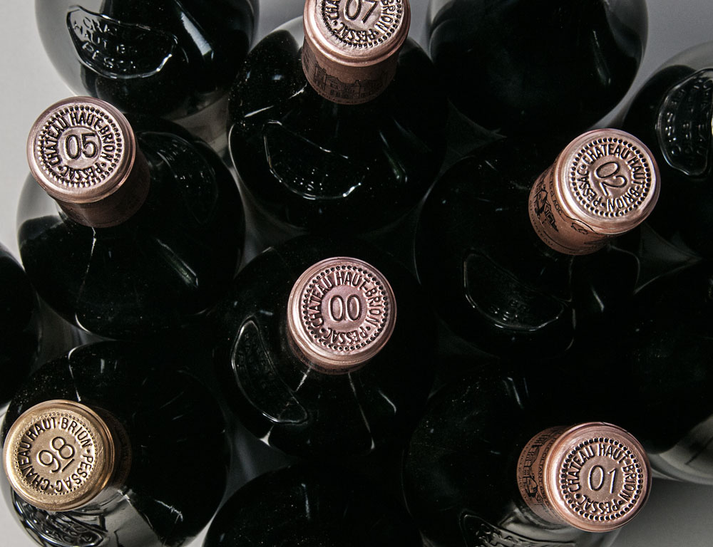 [DETAIL] A Decade of Chateau Haut Brion 1998-2009 Pessac Leognan, 1er Cru Classe 12 bottles (Lot 50, Estimate $3,600-5,000)