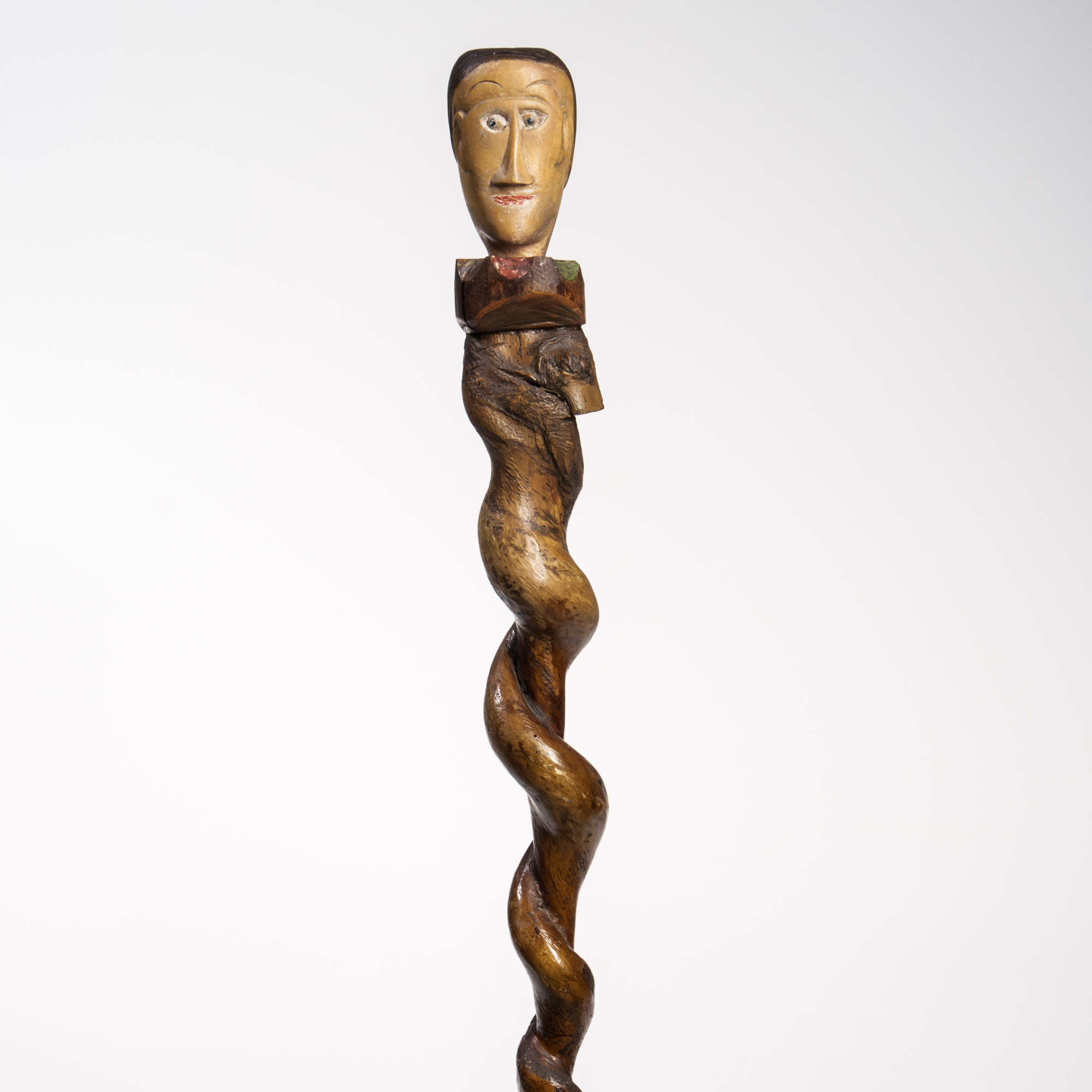 Carved and Polychrome Painted Staff with Head, possibly South Carolina, late 19th century (Lot 42, Estimate: $600-800)