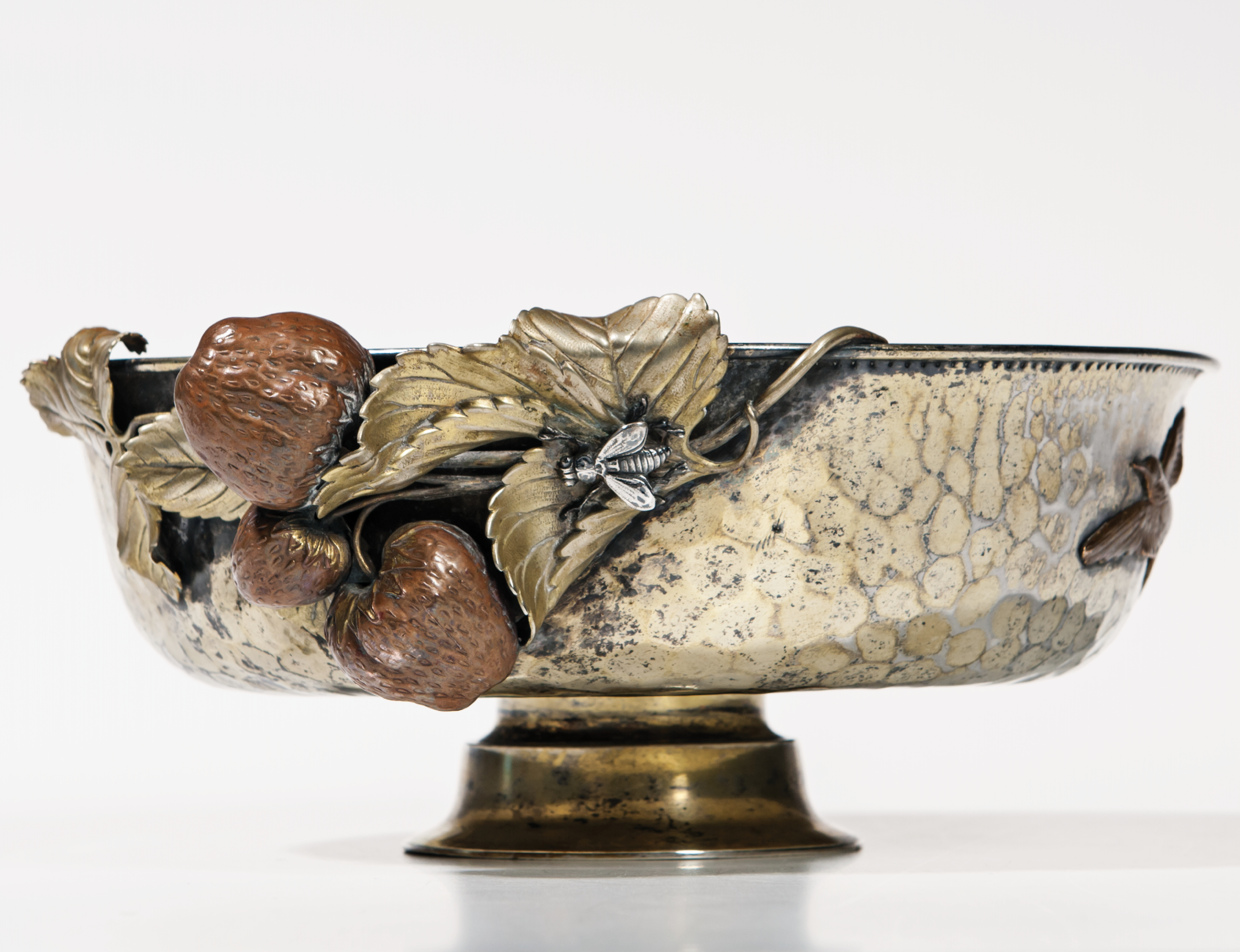 Gorham Sterling Silver and Mixed Metal Bowl (Estimate: $1,500-2,500)
